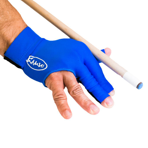 Kamui Billiard Glove - Right Bridge Hand - Blue - Large