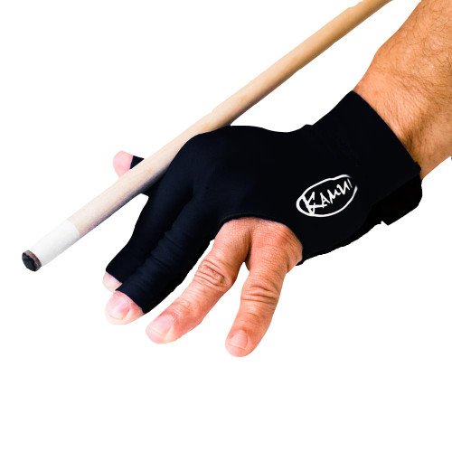 Kamui Billiard Glove - Left Bridge Hand - Black - Medium