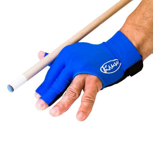 Kamui Billiard Glove - Left Bridge Hand - Blue - Small