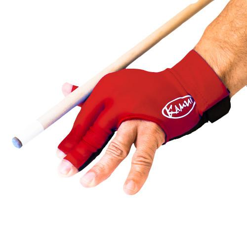 Kamui Billiard Glove - Left Bridge Hand - Red - X-Large