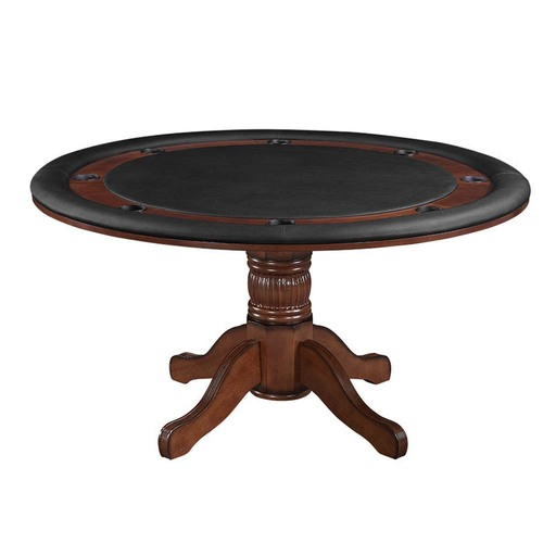 """Ram Gameroom Poker Table Chestnut 60"""" 2 in 1 Game Table"""