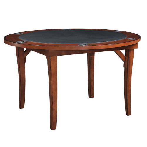 "Ram Gameroom Folding Poker Table  48"" Chestnut"