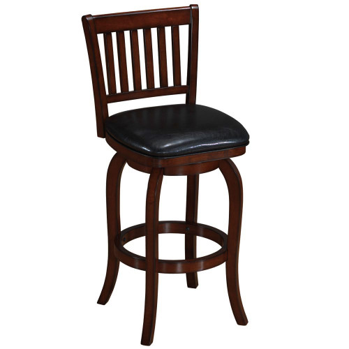 Ram Gameroom Wood Bar Stool Slatted Back Cappuccino