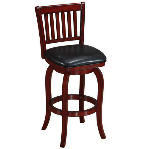 Ram Gameroom Wood Bar Stool Slatted Back English Tutor