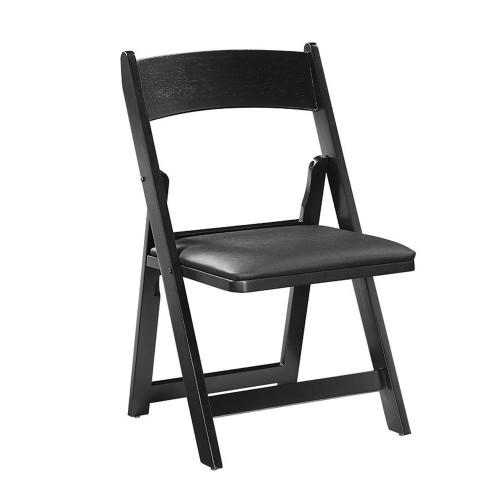 Ram Gameroom Folding Game Chair Black