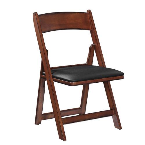 Ram Gameroom Folding Game Chair Chestnut