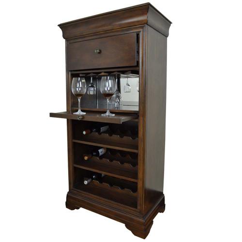 Ram Gameroom Bar Cabinet with Wine Rack Cappuccino