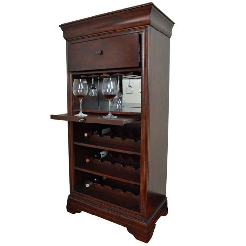 Ram Gameroom Bar Cabinet with Wine Rack English Tudor