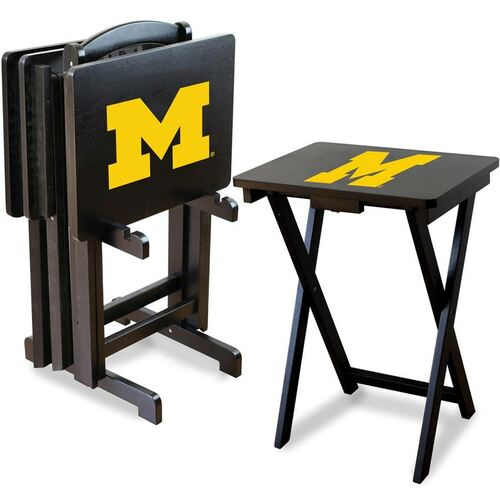 University of Michigan TV Tray Set