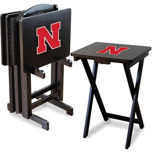 University of Nebraska TV Tray Set