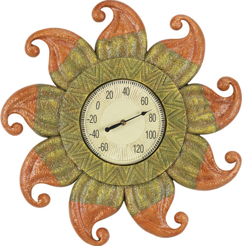 Outdoor Sun with Thermometer Sign 24""