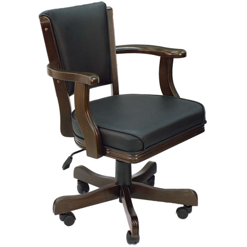 Ram Gameroom Swivel Poker Chair with Casters Cappuccino