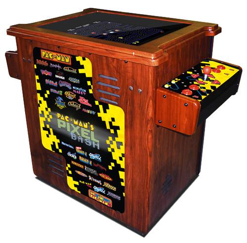 Pac-Man Pixel Bash Arcade Cocktail Wood
