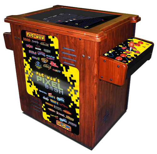 Pac-Man Pixel Bash Arcade Cocktail Wood