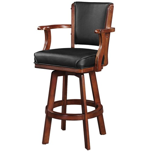 Tremendous Ram Gameroom Swivel Bar Stool With Arms Chestnut Pdpeps Interior Chair Design Pdpepsorg