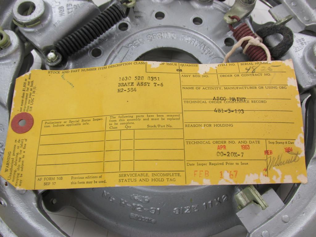 """NOS BT-13/AT-6 Hayes Brake Assemblies 11x2"""" P/N G-2-97"""