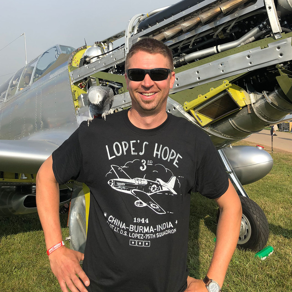 "P51C Mustang ""Lope Hope 3rd"" T-shirt Lifestyle Photo"
