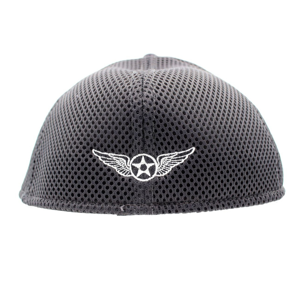Charcoal Fitted Cap - Back