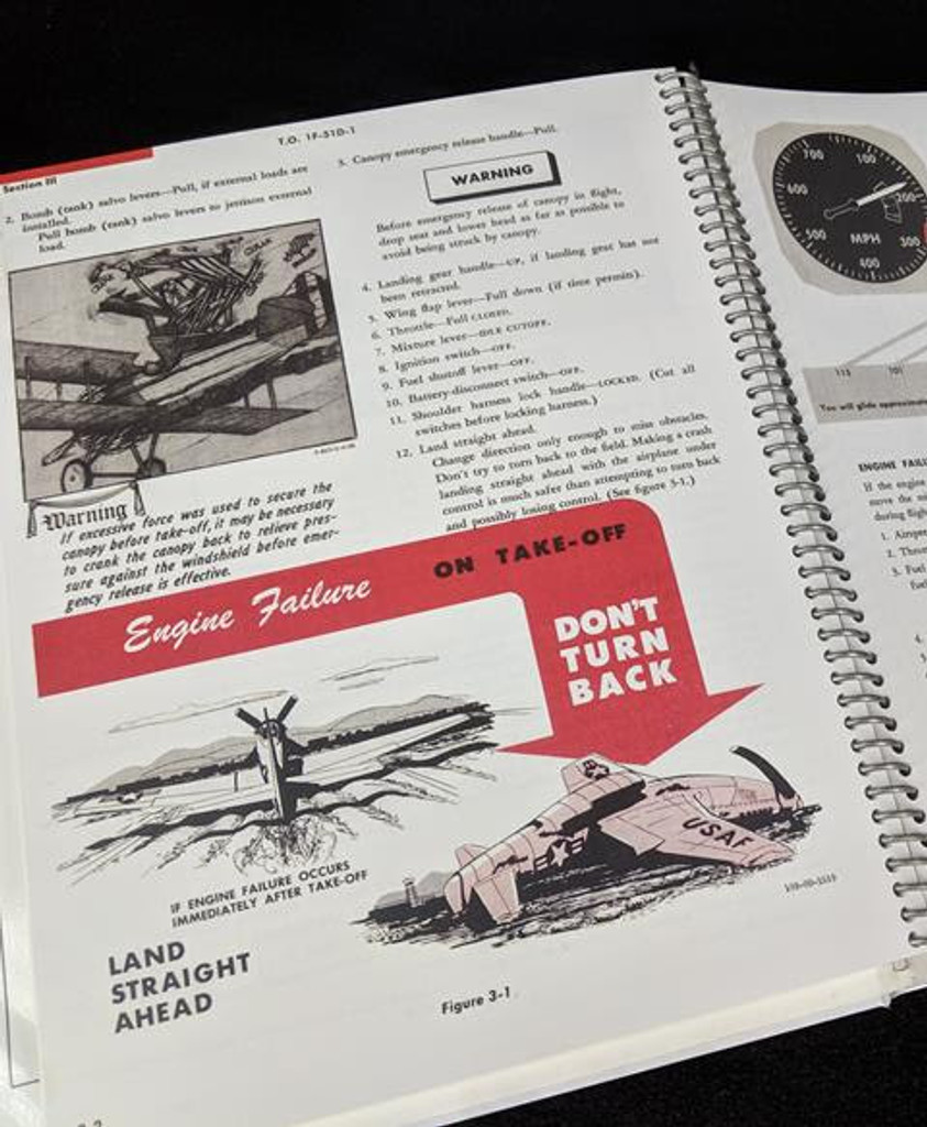 P-51D Mustang Premium Bound Aircraft Manual Collection