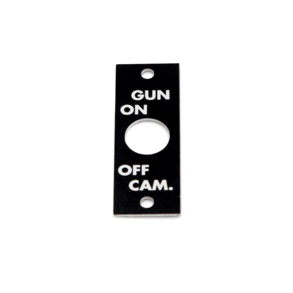 75-66-168-3 P-40 -GUN CAMERA NAMEPLATE ELECTRICAL SYSTEM
