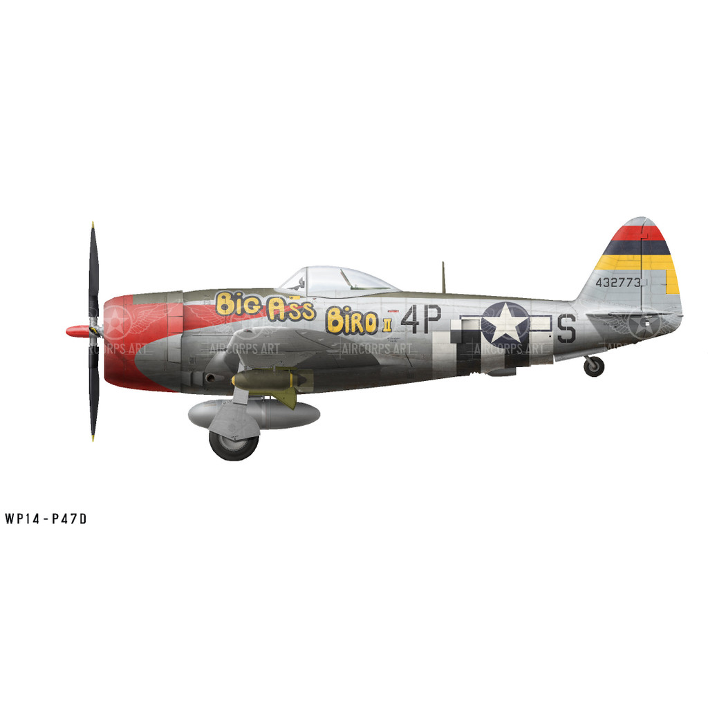 "P-47D Thunderbolt ""Big Ass Bird II"" Decorative Vinyl Decal"