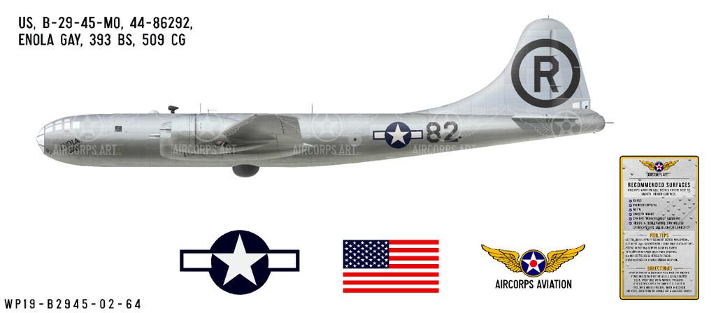 "B-29 Superfortress ""Enola Gay"" Decorative Vinyl Decal"