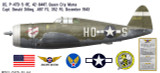 "P-47D Thunderbolt ""Queen City Mama"", Capt. Donald Dilling, 487th FS, 352nd FG, RAF Bodney, December 1943 Decorative Vinyl Decal"