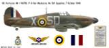 Hawker Hurricane Mk I, P/O Ken Mackenzie DFC, No 501 Squadron, Royal Air Force, 7 October 1940 Decorative Vinyl Decal