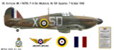 Hawker Hurricane Mk I, P/O Ken Mackenzie DFC, No 501 Squadron, Royal Air Force, 7 October 1940 Decorative Vinyl Decal