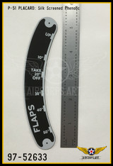 P/N - 97-52633 - PLATE - FLAP CONTROL LEVER NAME