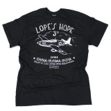 Lope's Hope 3rd Tee - Black - Front