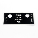 63-77114 BT-13 Pilots Hot & Cold Air Name Placard
