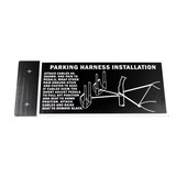 87-91-912 P-40 NAME PLATE PARKING HARNESS STA'S