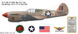 "P-40F Warhawk ""Miss Fury"" Decorative Vinyl Decal"