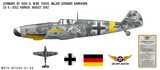 Messerschmitt BF 109G-6 Decorative Vinyl Decal
