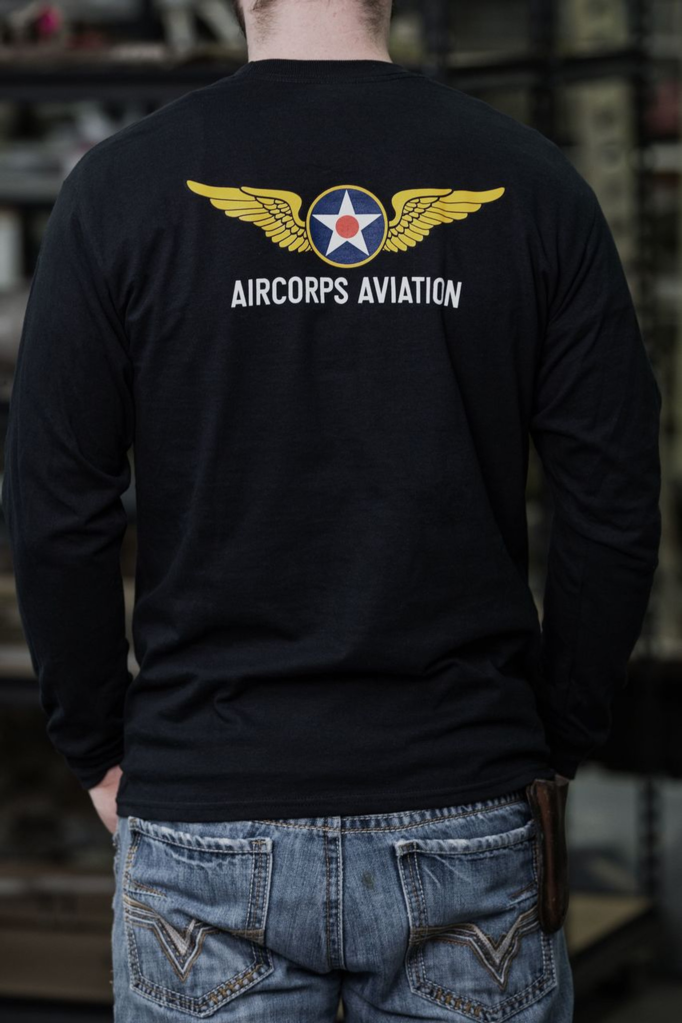0491d566f Men's Long Sleeve T-Shirt - AirCorps Depot