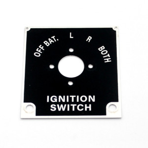 74-78120 BT-13 Ignition Switch Name Placard