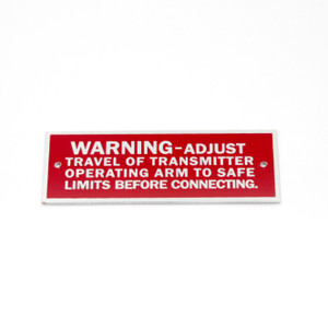 75-66-168-4 P-40 -  WARNING NAMEPLATE ELECTRICAL SYSTEM