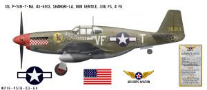 """P-51B Mustang """"Shangri-La"""" Decorative Vinyl Decal"""