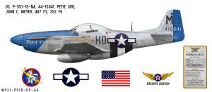 """P-51D Mustang """"Petie 3rd"""" Decorative Vinyl Decal"""
