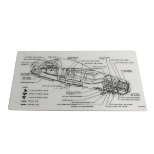 122-73303 Oxygen System Diagram Data Card - P-51 Mustang