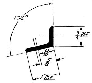 """1E66T Extrusion - Metallic Angle - 1.000"""" x .750"""" - 2024-T3511"""
