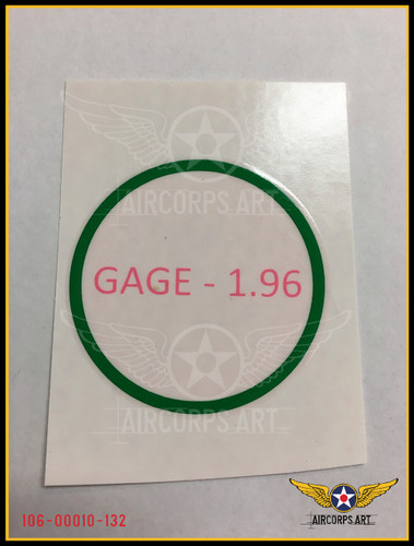 Actual Water Transfer - Note removable pink transfer film protector & part number overlay