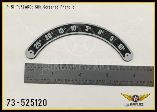 P/N - 73-525120 - PLATE - ELEVATOR TRIM TAB POSITION INDICATOR