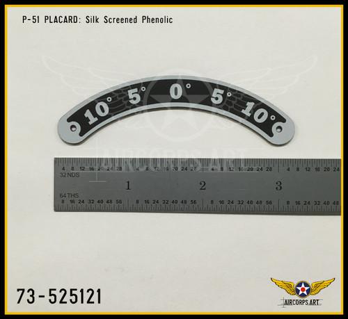 P/N - 73-525121 - PLATE - AILERON TRIM TAB POSITION INDICATOR