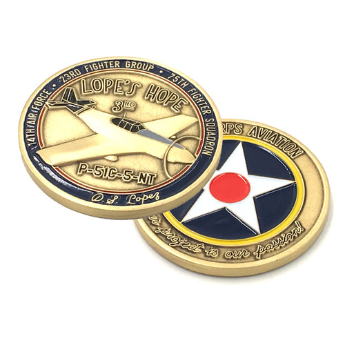 Lopes Hope 3rd P-51 Mustang Challenge Coin