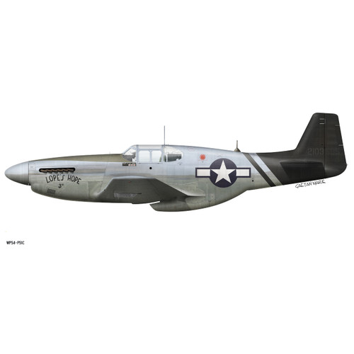 "P-51C Mustang ""Lopes Hope"" Decorative Vinyl Decal"