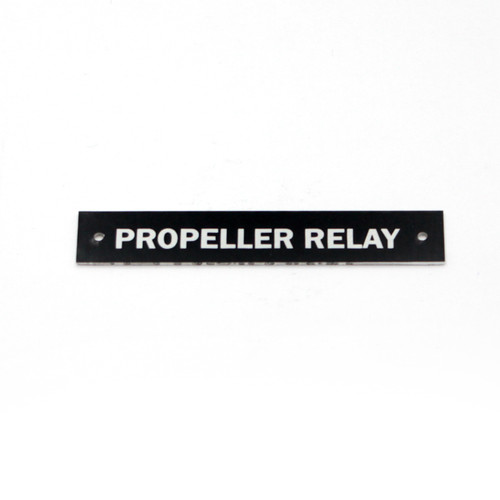 Copy of 75-66-168-2 P-40 - PROPELLER RELAY NAMEPLATE ELECTRICAL SYSTEM