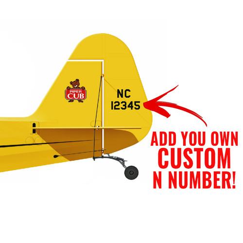 J-3 Piper Cub Decorative Vinyl Decal