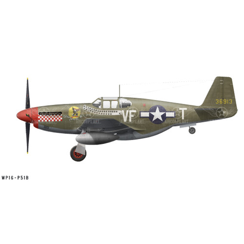 "P-51B Mustang ""Shangri-La"" Decorative Vinyl Decal"
